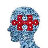 Psychologie-Puzzlespiel-Kopf Lizenzfreie Stockfotos