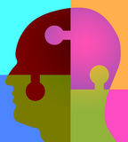 Psychologie-Puzzlespiel-Kopf Lizenzfreie Stockbilder