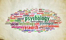 Psychologieentwurfsweinlese Stockbild