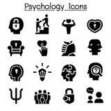 Psychologieikonensatz stock abbildung