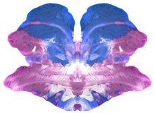 Psychologietest - abstrakte symmetrische Kunst - kann als medizinischer Psychologietest und als Design für T-Shirts, Becher, Kale Stockbilder