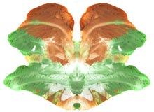 Psychologietest - abstrakte symmetrische Kunst - kann als medizinischer Psychologietest und als Design für T-Shirts, Becher, Kale Lizenzfreies Stockbild