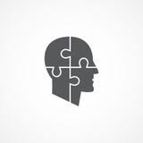 Psychologii ikona Fotografia Stock