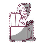 Psychologist avatar character icon Stock Photos