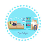 Psychologist Concept Icon Flat Isolated Stock Photos