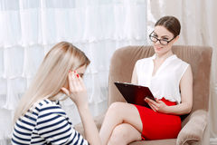 Psychologist and her client Stock Images