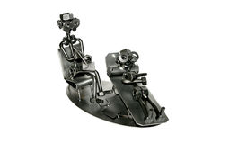 Psychologist iron toy Royalty Free Stock Image