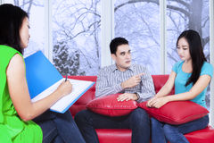 Psychologist monitoring the patients Stock Photo