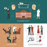 Psychologue Design Concept illustration de vecteur
