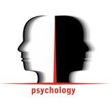 Psychology. Logo - man in profile - vector vector illustration