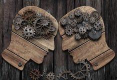 Psychology battle man vs man conceptual 3d illustration. Psychology concept. Mental battle man vs man royalty free stock photo