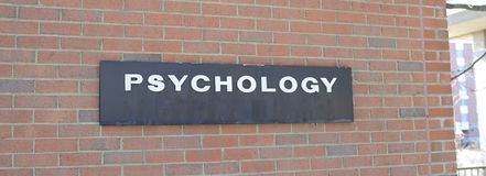 Psychology College Study Hall. Study hall at a college, Psychology is the science of behavior and mind, including conscious and unconscious phenomena, as well as royalty free stock photography