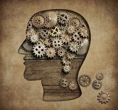 Psychology concept 3d illustration royalty free illustration