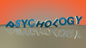 Psychology 3d text. And floor royalty free stock image