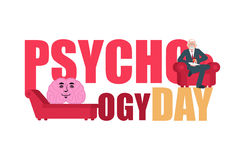 Psychology day. Consultation of psychotherapist. Postcard for ho Stock Photo