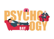 Psychology day. Consultation of psychotherapist. Postcard for ho Royalty Free Stock Photography