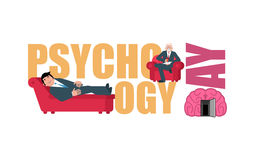 Psychology day. Consultation of psychotherapist. Postcard Royalty Free Stock Photos