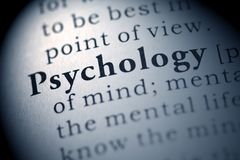 Psychology. Fake Dictionary, Dictionary definition of the word Psychology royalty free stock image