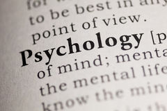 Psychology. Fake Dictionary, Dictionary definition of the word Psychology. including key descriptive words stock images