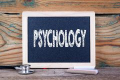 Psychology. Health concept. Chalkboard on a wooden background. Psychology Health concept. Chalkboard on a wooden background Stock Photos