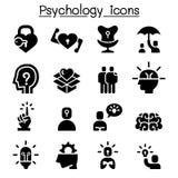 Psychology icon set. Vector illustration graphic design Stock Images