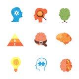 Psychology icons vector set Stock Photos