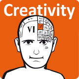 A psychology model. The creativity section of the brain Stock Image