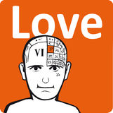 A psychology model. The love section of the brain Stock Photo