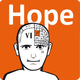 A psychology model. The hope section of the brain Royalty Free Stock Photo
