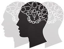 Psychology. Psychiatry symbol on people background Royalty Free Stock Photography