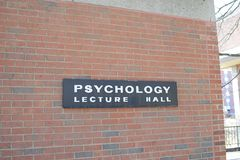 Psychology Lecture Hall at a College. Psychology is the science of behavior and mind, including conscious and unconscious phenomena, as well as thought. It is an Royalty Free Stock Images