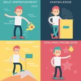 Psychology terms illustrations for personal growth Stock Images