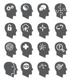 Psychology vector icons set Royalty Free Stock Photography