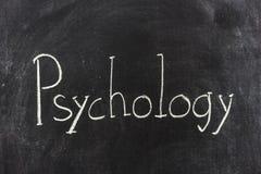 Psychology written on the blackboard. The word Psychology is written on the blackboard Royalty Free Stock Image