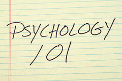 Psychology 101 On A Yellow Legal Pad Royalty Free Stock Photography