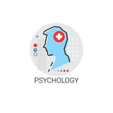 PsychologyHospital behandelt ärztliche Behandlungs-Ikone Clinic Lizenzfreies Stockfoto