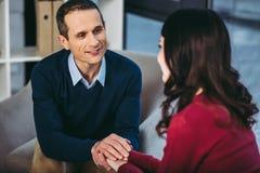 Psycholoog? ounseling patiënt royalty-vrije stock afbeelding