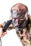 Psychopat Soldier Stock Photos