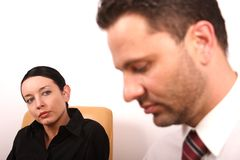 Psychothérapie - douleur à l'intérieur image libre de droits
