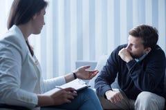 Psychotherapie voor depressiebehandeling Royalty-vrije Stock Afbeeldingen