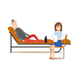 Psychotherapist concept vector illustration in flat style Stock Photo