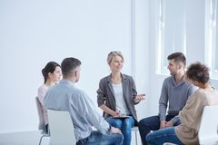 Psychotherapist and group Stock Photography