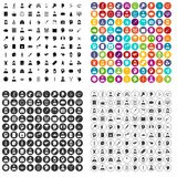 100 psychotherapist icons set vector variant. 100 psychotherapist icons set vector in 4 variant for any web design isolated on white Stock Photography