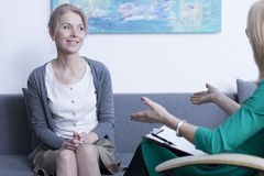 Psychotherapist and patient Royalty Free Stock Photos