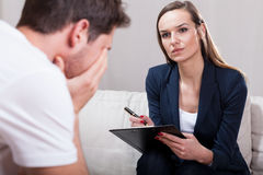 Psychotherapist during work Stock Photo