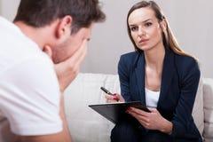 Psychotherapist during work Stock Photo