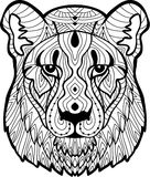 Psychotherapy. Coloring book for adults. The lioness Royalty Free Stock Photo