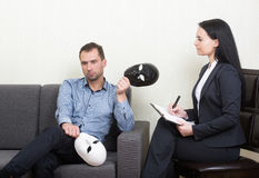 Psychotherapy concept Royalty Free Stock Photos