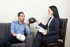 Psychotherapy concept Stock Images