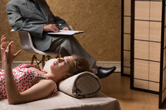 Psychotherapy of nymphomania stock photography